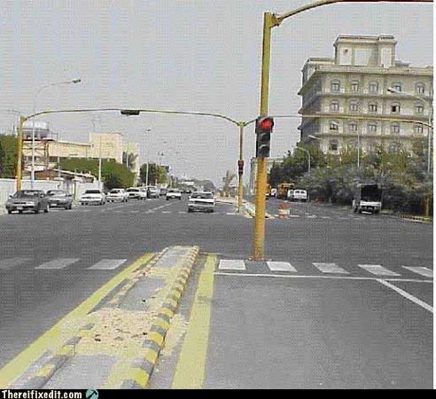 Stoplight in turn lane